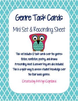 Genres Task Cards Mini Set
