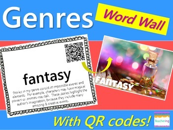Genres Word Wall {with QR Codes}