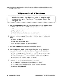 Genres: Write Historical Fiction