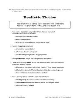 Genres: Write Realistic Fiction