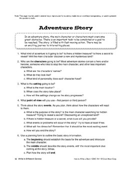 Genres: Write an Adventure Story