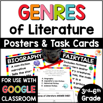 Genres of Literature Posters and Task Cards