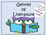 Genres of Literature Flow Chart