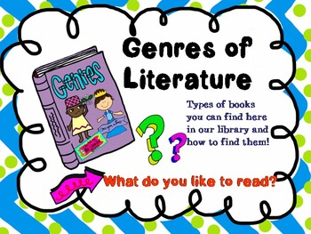 Genres of Literature PowerPoint