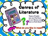 Genres of Literature PowerPoint