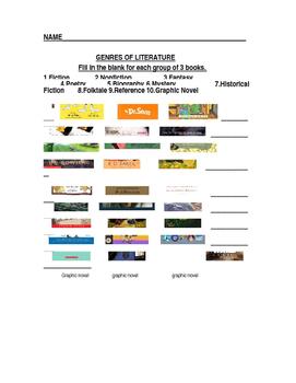Genres of Literature Quiz