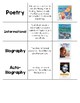 Genres of Literature Vocabulary Word Card Sort