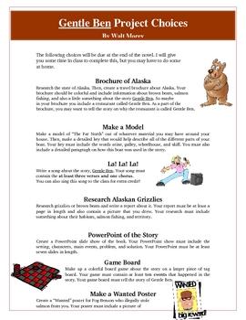 Gentle Ben Creative Reading Project Activities and Rubric