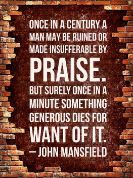 Poster: Gentle Reminders - Mansfield Praise