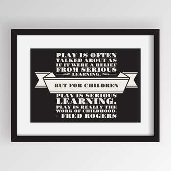 Poster: Gentle Reminders - Rogers Play (frame)