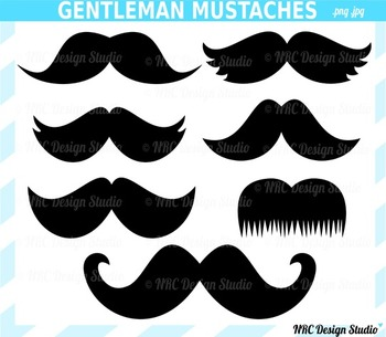 Gentleman Mustaches Clip Art