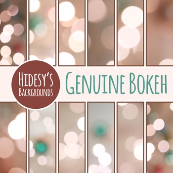 Genuine Photographic Bokeh Backgrounds / Patterns / Digital Paper Clip Art