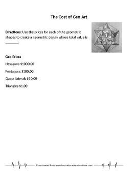 Geo Art Designs and Money