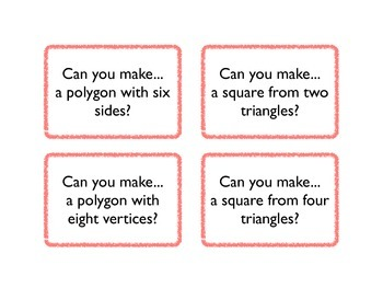 Geo Board Task Cards for Shapes - Sides, Vertices, and Polygons