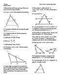 Geo Ch.8 Ratio and Proportions Review