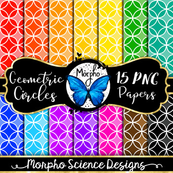 Geometric Circles Digital Papers - Candy Colored Pattern