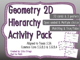 Geo Classify 2D Figures in Hierarchy Sets Task Cards 5.5A