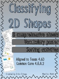 NEW Geometry Classify Shapes Based on Lines & Angles Activ