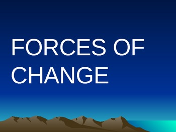 Geo, Forces of Change