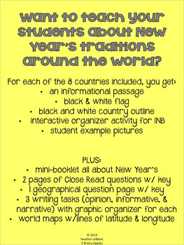 New Year's Eve, New Year's Day Interactive Notebook, New Year's Activities