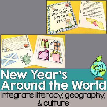 New Year's Eve, New Year's Day Interactive Notebook, New Y