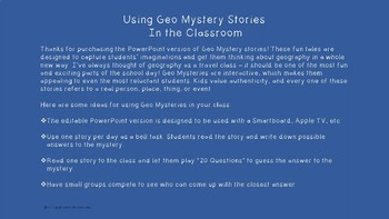 Geo Mystery Stories Power Point - Europe 1