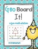 GeoBoard It! A Fun Math and Geometry Station
