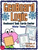GeoBoard Logic | Winter Themed | Task Card Activity Pack