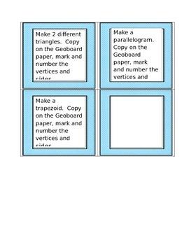 GeoBoard Task Cards- Geometry