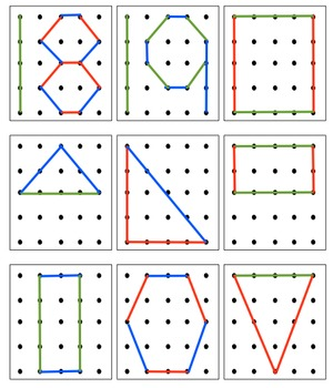 GeoBoard numbers and 2d Shapes