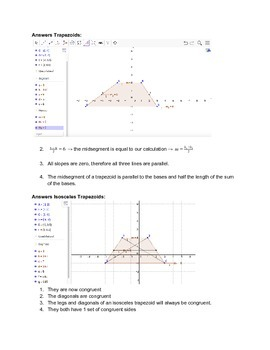 GeoGebra Investigation Into The Properties of Trapezoids