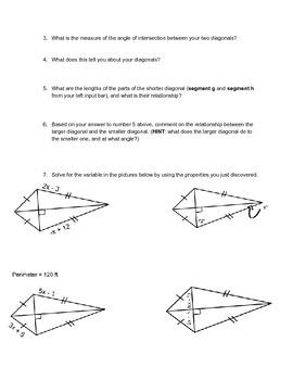 GeoGebra Web Investigation into Properties of Kites