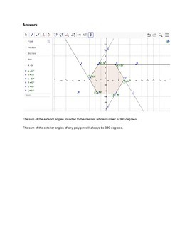GeoGebra Web Investigation into the Exterior Angles of Polygons