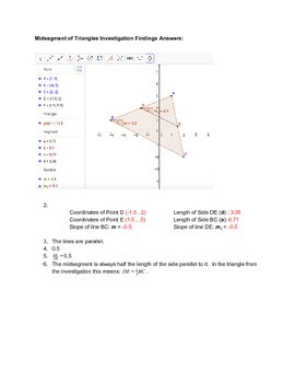 GeoGebra Web Investigation into the Midsegments of Triangles