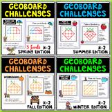 Geoboad Geometry Challenges - Seasonal Bundle - 40 Task Cards