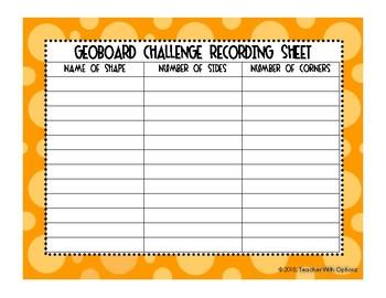 Geoboard 2D Shape Challenge