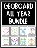 Geoboard ALL YEAR Task Card Work it Build It Make It STEM Mats BUNDLE