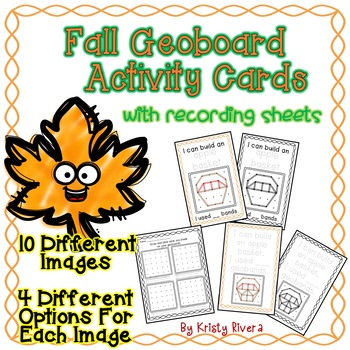 Geoboard Activity Cards - Fall