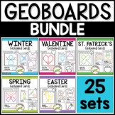 Geoboard Cards BUNDLE: Shape Activity for Pre-K Math