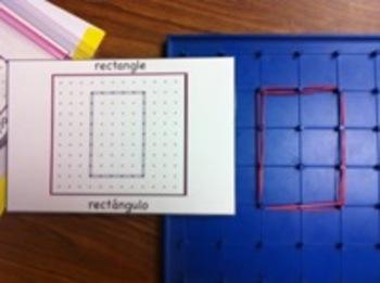 Geoboard Center Cards (Bilingual)