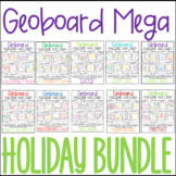 Geoboard Challenge Task Cards - Mega Holiday Bundle