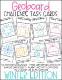 Geoboard Challenge Task Cards - Winter