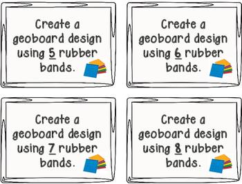 Geoboard Design Task Cards