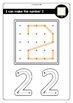 Geoboard Fine Motor Number Activity: Numbers 1-20