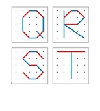 Geoboard Fun: Letters and numbers set for pre-k, kindergarten or 1st
