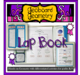 Geoboard Geometry Lap Book unit with differentiated activities grades K-9