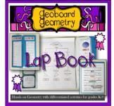 Geoboard Geometry Lap Book unit activities for grades K-9