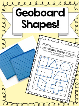Geoboard Lesson for Primary Math Shapes Unit