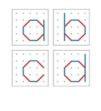 Geoboard Lower Case Letter Diagrams for Pre-k, Kindergarte