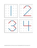 Geoboard Number Diagrams for Pre-k, Kindergarten or 1st